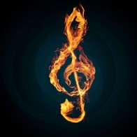 Burning Music Notes