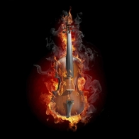Burning Violin Wallpaper