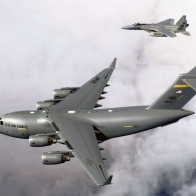 C 17 Globemaster Lll F 15 Buddy Wallpaper