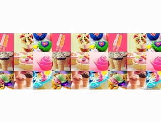 Candy And Dessert Collage Cover