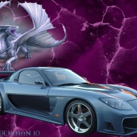 Car And Dragon Wallpaper