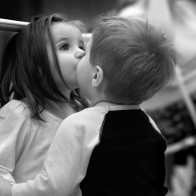 Children Girl Boy Kiss