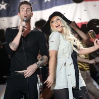Christina Aguilera And Maroon 5