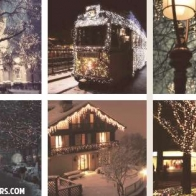 Christmas Lights Collage Cover