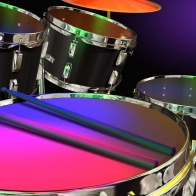 Colored Drums Wallpaper