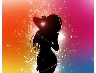 Colorful Background Girl Wallpapers