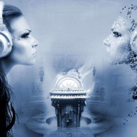 Creative Girls Listen Music Wallpapers
