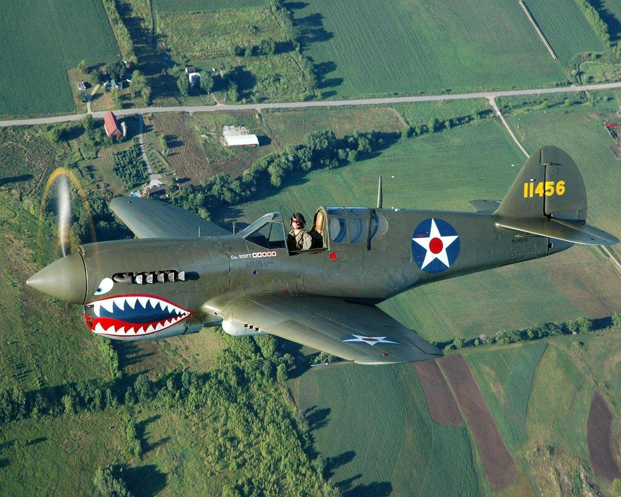 View Of Curtiss P 40 Warhawk Wallpaper : Hd Wallpapers