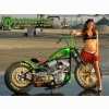 Custom Chopper And Hot Babe Wallpaper