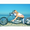 Custom Chopper With Hot Babe Wallpaper