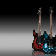 Custom Guitars Wallpaper