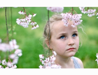 Cute Girl In Garden Wallpapers