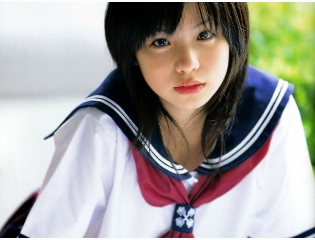 Cute Girl In School Uniform Shizuka Kashiwa Wallpaper