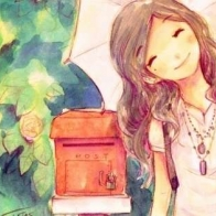 Cute Girl Smiling At Post Box Cool Facebook Timeline Covers