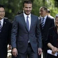 David Beckham Visits Ching Ling Foundation