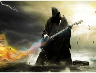 Death Playing Guitar