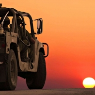 Desert Military Vehicles Wallpaper