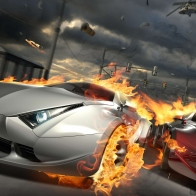 Destructive Car Race Wallpapers