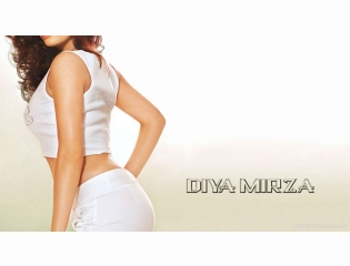 Diya Mirza Back Side