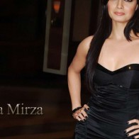 Diya Mirza In Black Dress