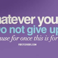 Do Not Give Up Cover