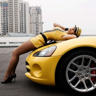 Dodge Viper Amp Hot Girl Wallpaper