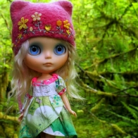 Doll Toy Wood Hair Hat Cap