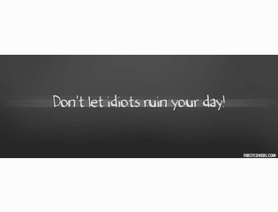 Dont Let Idiots Ruin Your Day Cover