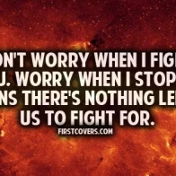 Dont Worry When We Fight Cover