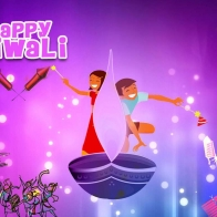 Download Happy Diwali Greeting Wallpaper