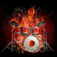 Drummer A Skeleton Fire Music