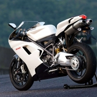 Ducati 848 Superbike Evo Arctic White Wallpaper