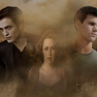 Edward Bella And Jacob Wallpaper