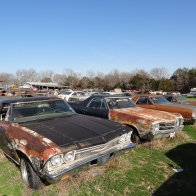 El Caminos Resting At The Little Valley Auto Ranch Belton Texas Wallpaper