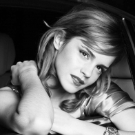 Emma Watson Black And White Wallpaper
