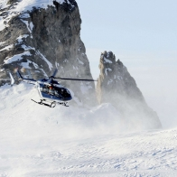 Eurocopter Ec145 Helicopter Snow Mountains