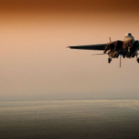 F 14 Tomcat Evening Landing Wallpaper