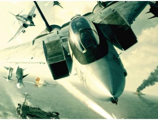 F 14 Tomcat In Flight Ace Combat 5 Wallpaper