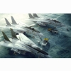 F 14 Tomcats On Hangar Deck Wallpaper