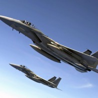 F 15 Eagles Fly Over The Pacific Ocean Wallpapers