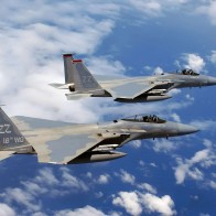 F 15c Eagles Flies Over Okinawa Wallpapers