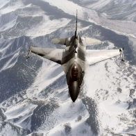 F 16 Aggressor Fly Over Snow Alaska