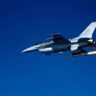 F 16c Fighting Falcon Firing Agm 88 Missile Wallpapers