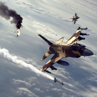 F 16s In Action Wallpaper