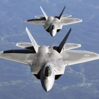 F 22 Column Flight Wallpaper