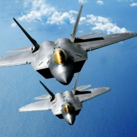 F 22 Raptors Over The Pacific Wallpapers