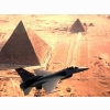 F16 Over The Pyramids Wallpaper