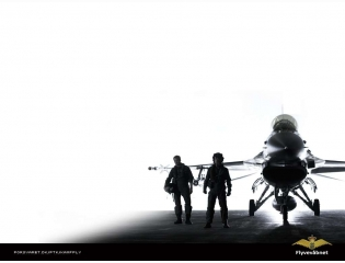 F16 With Pilots Wallpaper