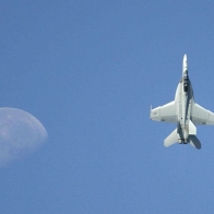 F18 Super Hornet The Moon Wallpaper