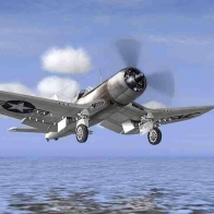 F4u Corsair Pf Usn Wwii Wallpaper